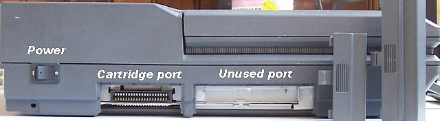The first one gives access to the cartridge port (or Rom port) and the